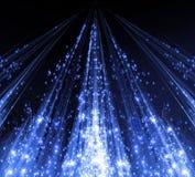 Abstraktion med laserstrålar och signalljusgnistor och Royaltyfria Foton