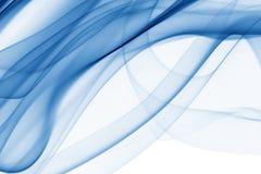 Abstraktion mit blauem und cyan-blauem Rauche Lizenzfreies Stockfoto