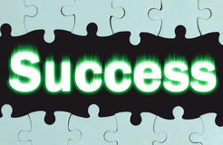 Abstraktion mit dem Aufschrift Erfolg Stockbilder