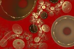 Abstraktion mit einem goldenen Muster der chinesischen Art. Lizenzfreies Stockbild