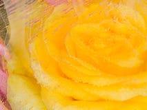 Abstraktion mit einer gelben Rose Stockfotografie