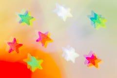 Abstraktion mit mehrfarbigen Sternen Stockfoto