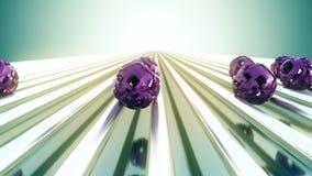 Abstraktion mit rosa Sciencefictionsbereichen Lizenzfreie Stockfotos