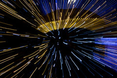 Abstraktion mit unscharfen Lichtern 2 Stockfotos