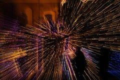 Abstraktion mit unscharfen Lichtern 1 Lizenzfreie Stockfotos