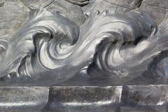 Abstraktion mit Wasser-Wellen-Hintergrund Stockfotos