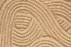 Abstraktion på sanden Arkivbilder