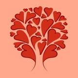 Abstraktion Red_hearts stock abbildung