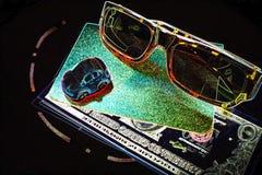 Abstraktion, Reflexion in den Gläsern der Gegenstände Lizenzfreie Stockbilder