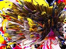 Abstraktion Schön und festlich Farbiger Stern Schwarzer Hintergrund lizenzfreie stockbilder