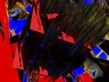 Abstraktion Schön und festlich Farbiger Stern Schwarzer Hintergrund stockfoto