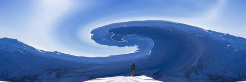Abstraktion Skifahrer auf einem Berghang Lizenzfreie Stockbilder