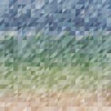 Abstraktion som komponeras av blåa gröna tegelstenar Olika skuggor stock illustrationer