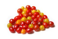 Abstraktion: Tomaten in Form des Herzens Lizenzfreies Stockbild