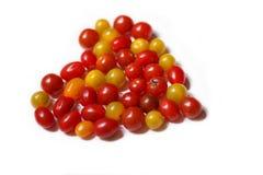 Abstraktion: Tomaten in Form des Herzens Stockfoto