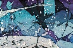 Abstraktion, turkos och violett varm batik, bakgrundstextur som  royaltyfri fotografi