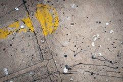 Abstraktion und Beschaffenheit auf Boden Stockfoto