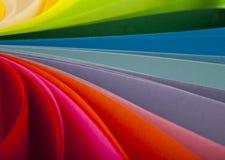 Abstraktion vom farbigen Papier Stockbilder