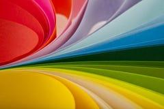 Abstraktion vom farbigen Papier Lizenzfreies Stockbild