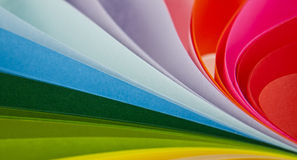 Abstraktion vom farbigen Papier Stockbild