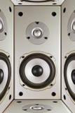 Abstraktion von Akustik, Eingabelautsprecher Lizenzfreie Stockfotografie