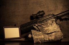 Abstraktion von Armeeoffizieren. Lizenzfreie Stockfotografie