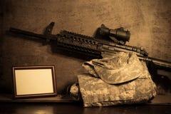 Abstraktion von Armeeoffizieren. Stockfotografie