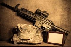 Abstraktion von Armeeoffizieren. Lizenzfreies Stockfoto
