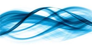 Abstraktion von blau-farbigen Kurven Lizenzfreies Stockbild