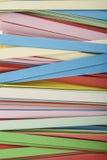 Abstraktion von farbigem Papier Lizenzfreies Stockbild