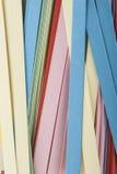 Abstraktion von farbigem Papier Stockbilder