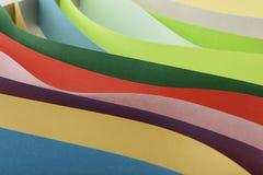 Abstraktion von farbigem Papier Lizenzfreie Stockfotografie