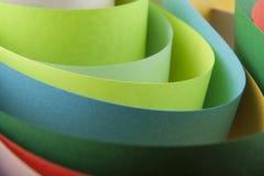 Abstraktion von farbigem Papier Lizenzfreies Stockfoto