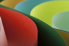 Abstraktion von farbigem Papier Lizenzfreie Stockbilder