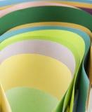 Abstraktion von farbigem Papier Stockfotos