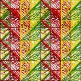 Abstraktion von farbigen Dreiecken Stockbild