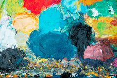 Abstraktion von farbigen Stellen mit Farbe Lizenzfreie Stockfotografie