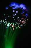 Abstraktion von grünen Threads einer Faseroptiknachtlampe Lizenzfreies Stockbild