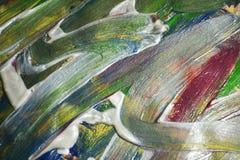Abstraktion von Pinselanschlägen Aquarellfarben-Zusammenfassungshintergrund Lizenzfreie Stockfotos