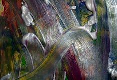 Abstraktion von weißen blauen puple Pinselanschlägen Aquarellfarben-Zusammenfassungshintergrund Stockbild