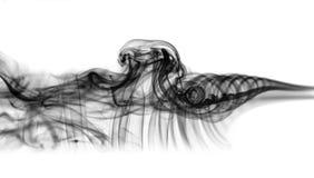Abstraktion: weißes mystisches Rauchmuster auf Weiß Lizenzfreies Stockbild