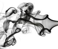 Abstraktion: weißes Rauchmuster auf Weiß Stockfoto