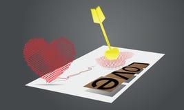 Abstraktion zum Tag des Valentinsgrußes Lizenzfreie Abbildung