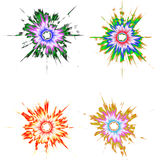 abstraktionblots stock illustrationer