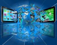 Tablet abstraktionen royaltyfria bilder