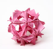 abstraktionhand - gjord origami Arkivfoto