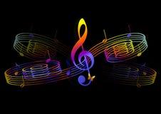 abstraktionmusikal Royaltyfria Bilder