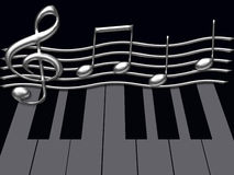 abstraktionmusikal Royaltyfri Fotografi