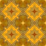 Abstraktions-Designvektor des Musters brauner quadratischer blauer Lizenzfreies Stockbild