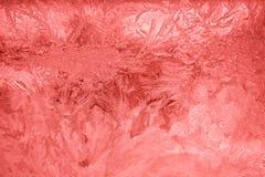 Abstraktions-Eis-Muster-Hintergrund-Rot Lizenzfreie Stockfotos